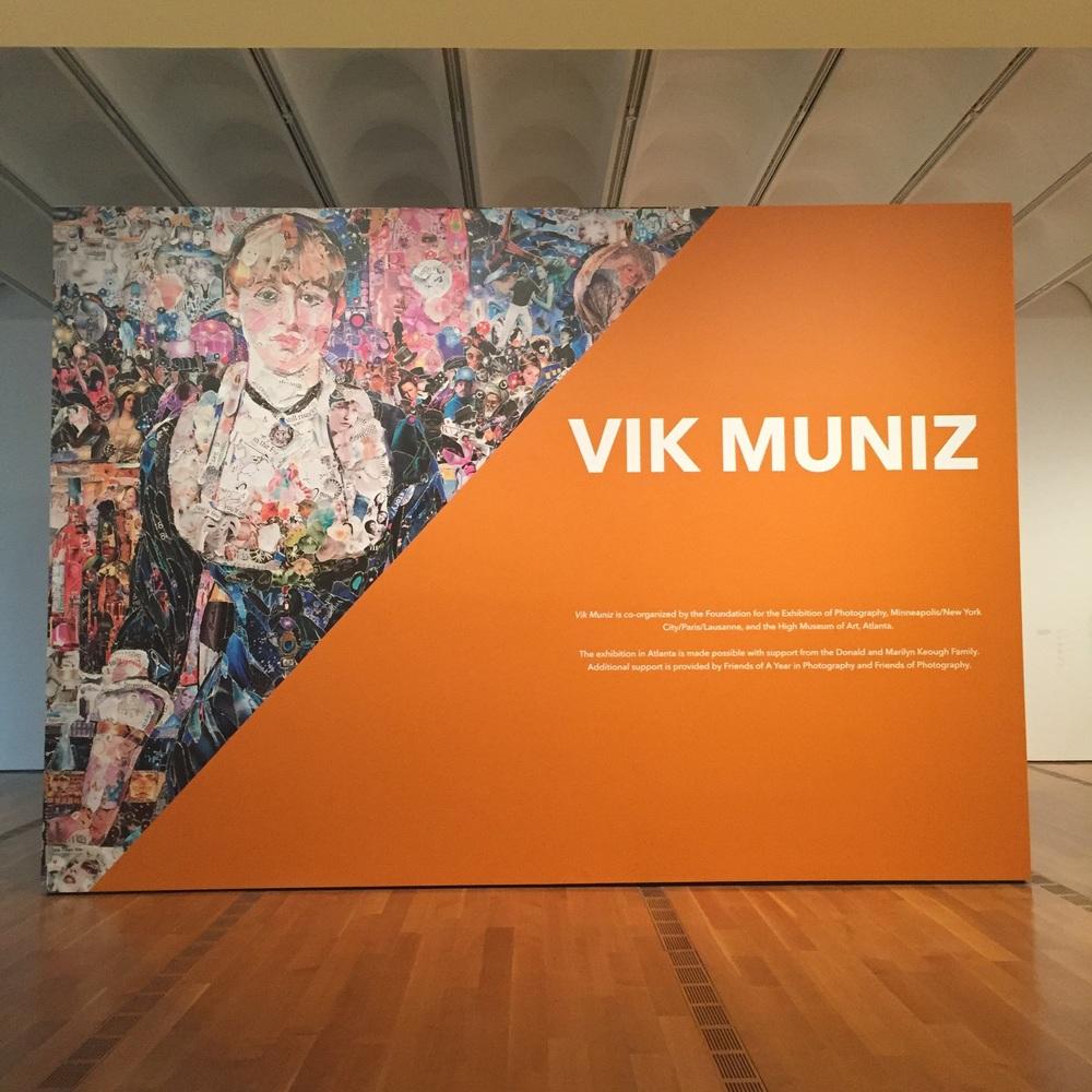 Vik Muniz exhibit at The High Museum