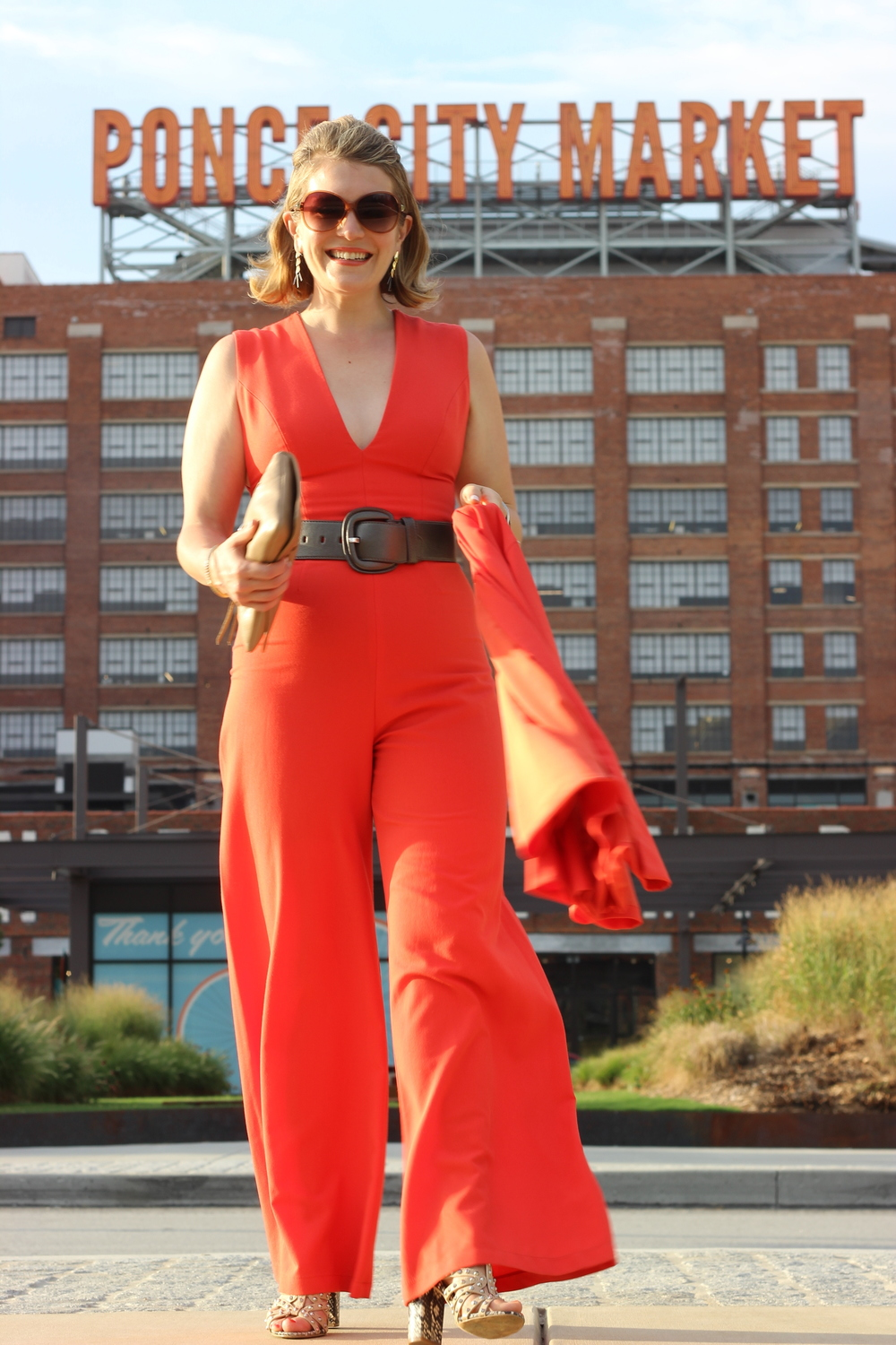 SMILING on date night to The Mercury at Ponce City Market // Jumpsuit by Alexis via Rent the Runway