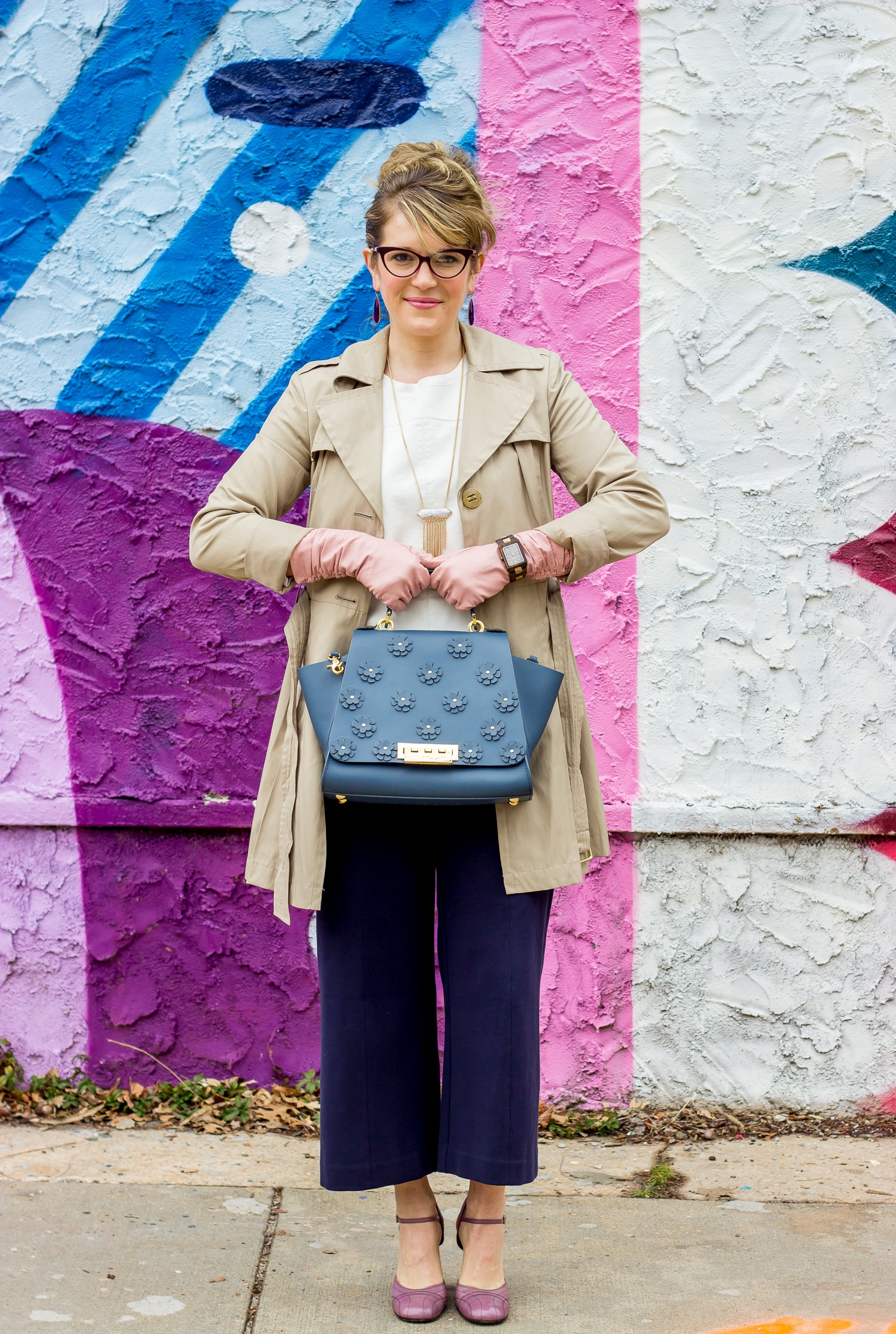 Zac Posen Eartha bag worn by Atlanta blogger Elise Giannasi