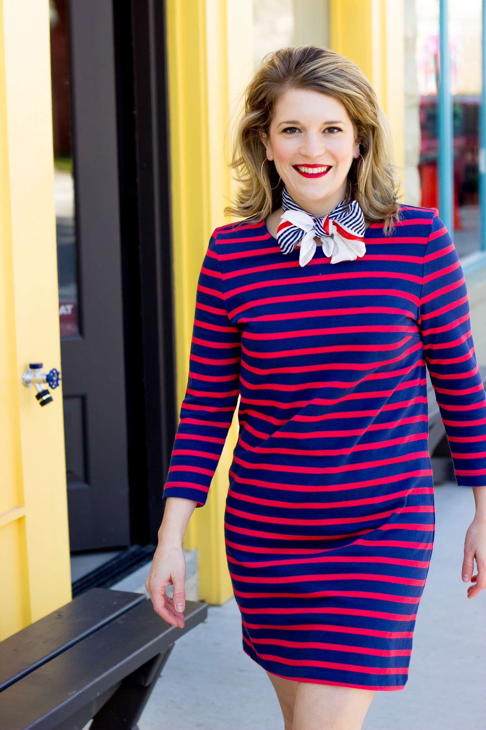 Nautical style from Old Navy on Belle Meets World blog