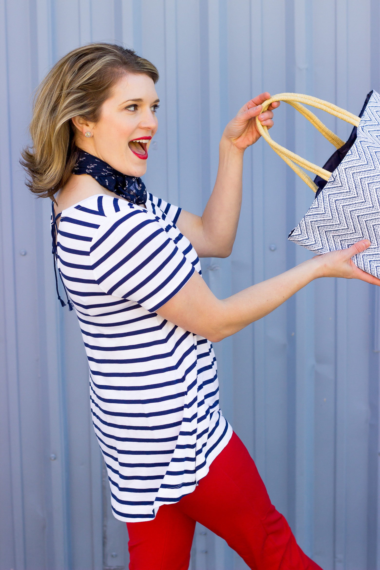 Striped tee on Belle Meets World blog
