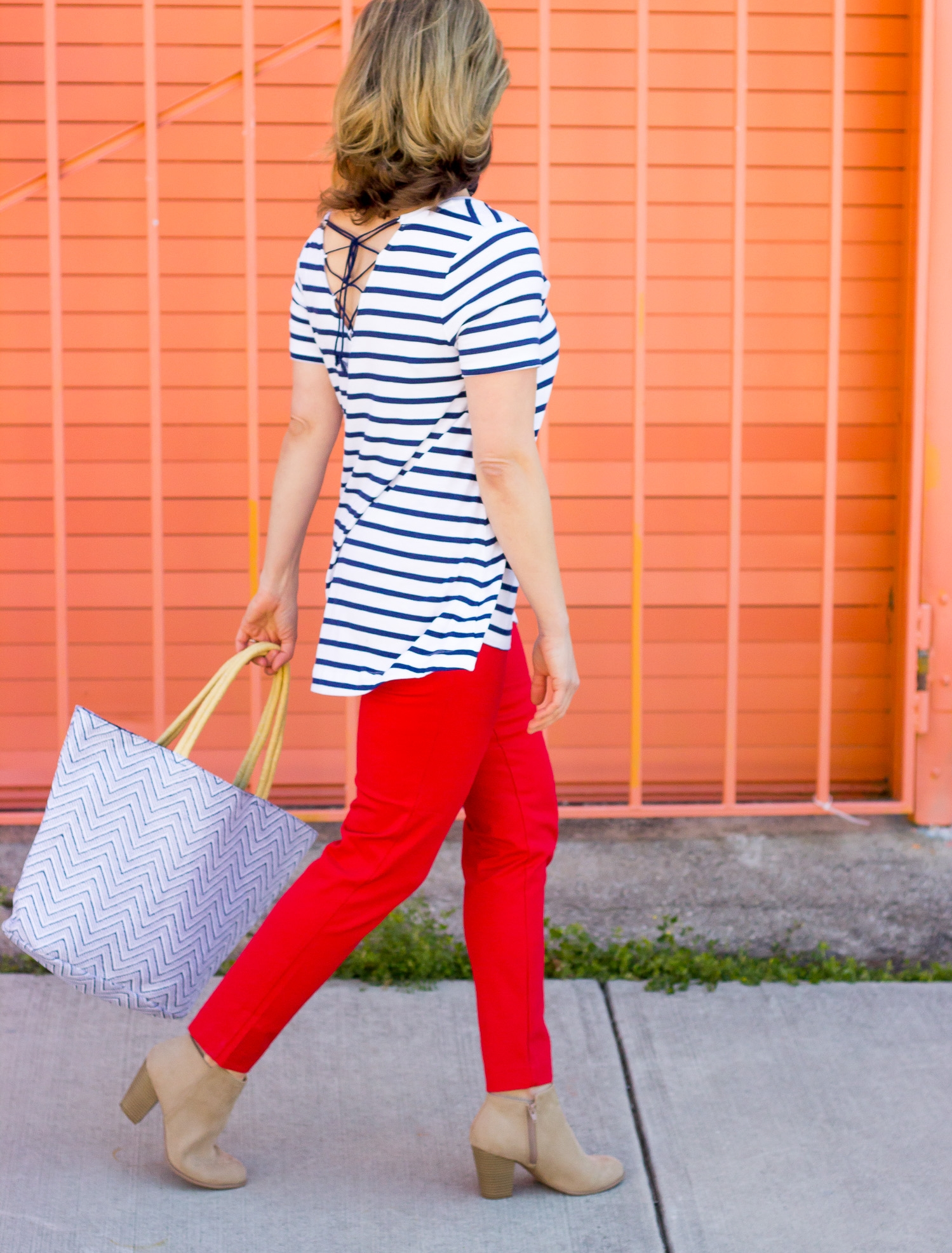 Lace up top on Belle Meets World blog