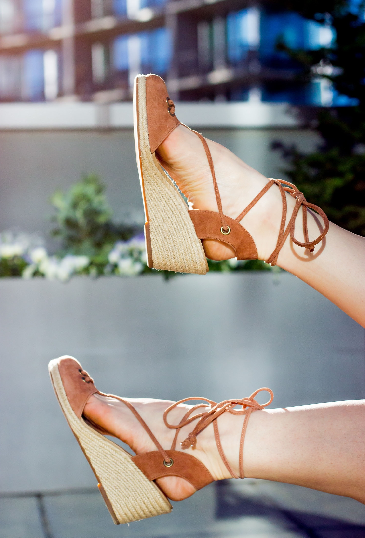 Lace up espadrilles by Lucky on Belle Meets World blog