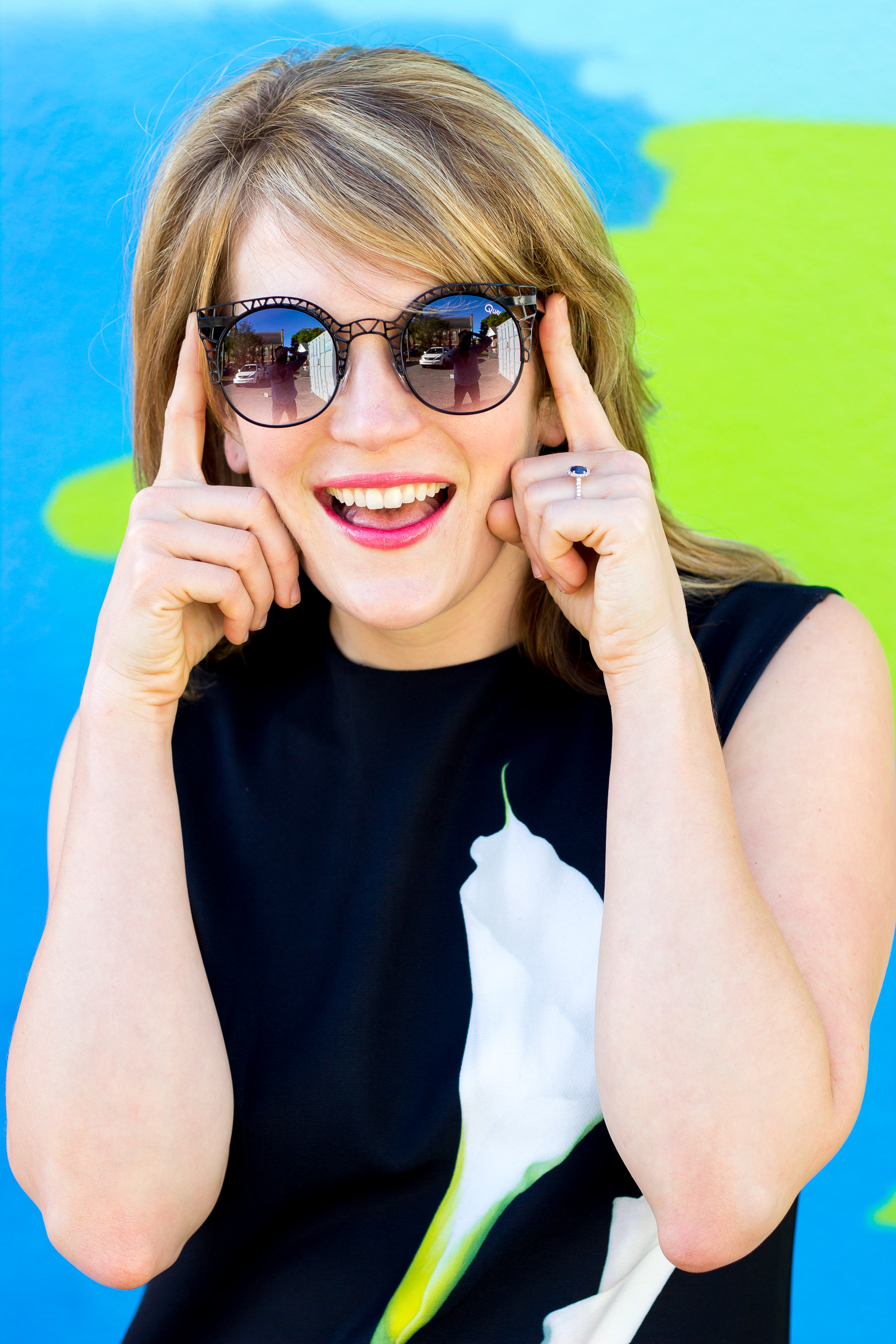 Quay sunglasses on Belle Meets World blog