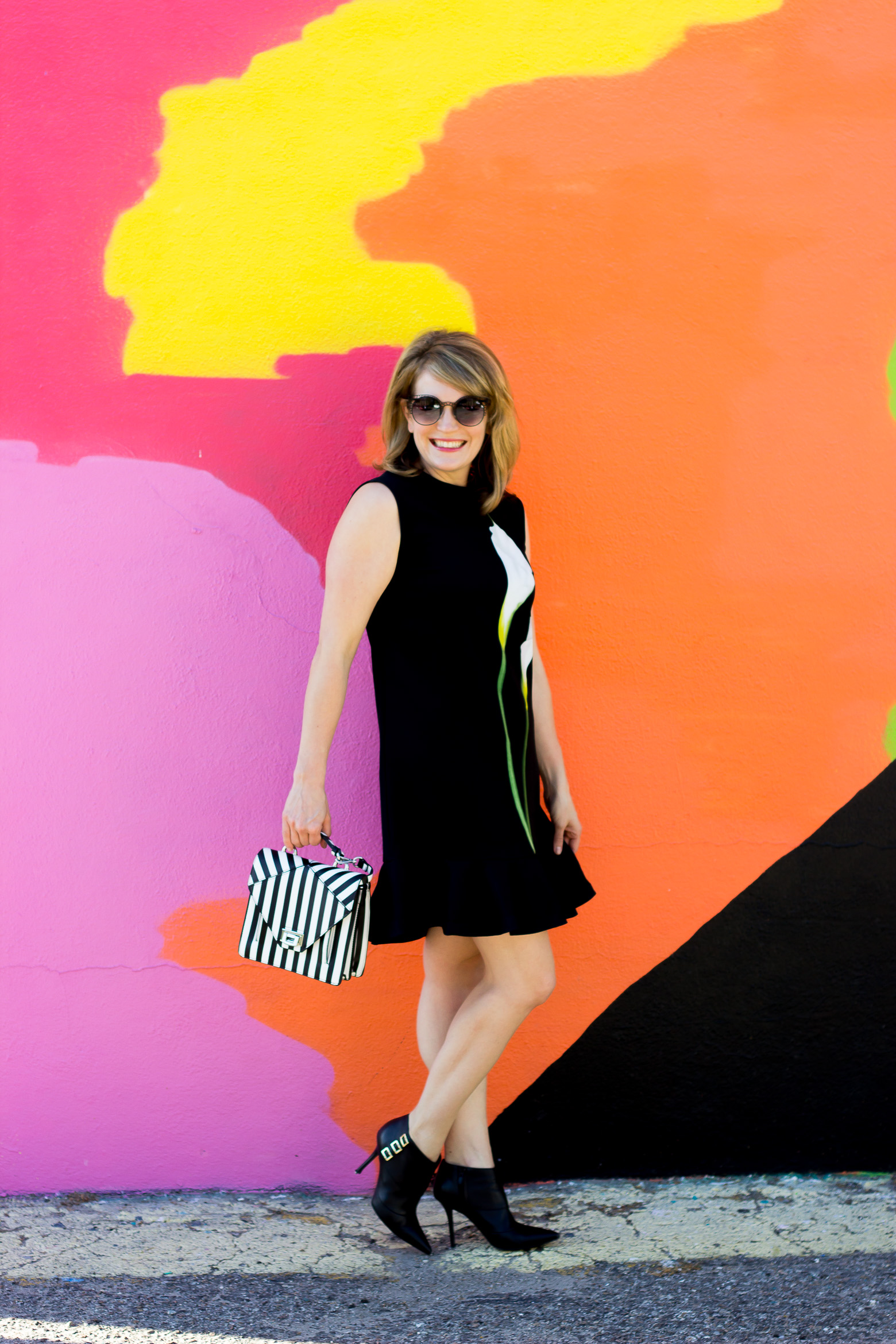 Victoria Beckham for Target calla lily dress worn by Atlanta blogger Elise Giannasi