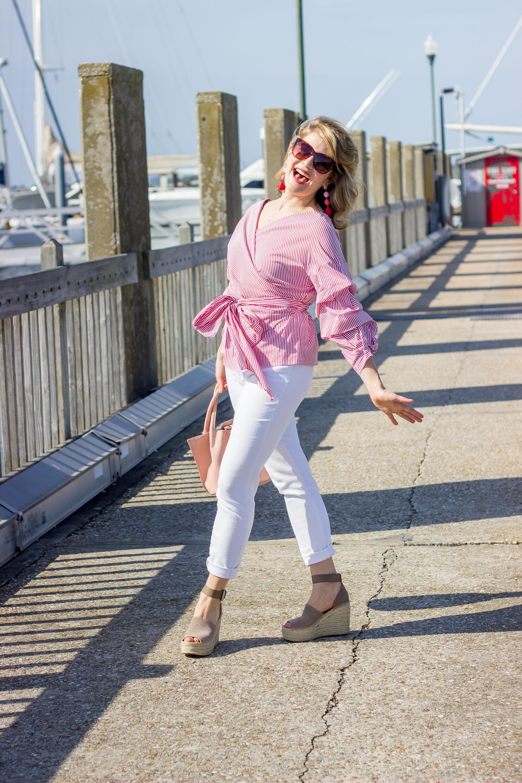 Ruffle wrap top by Zara on Belle Meets World blog