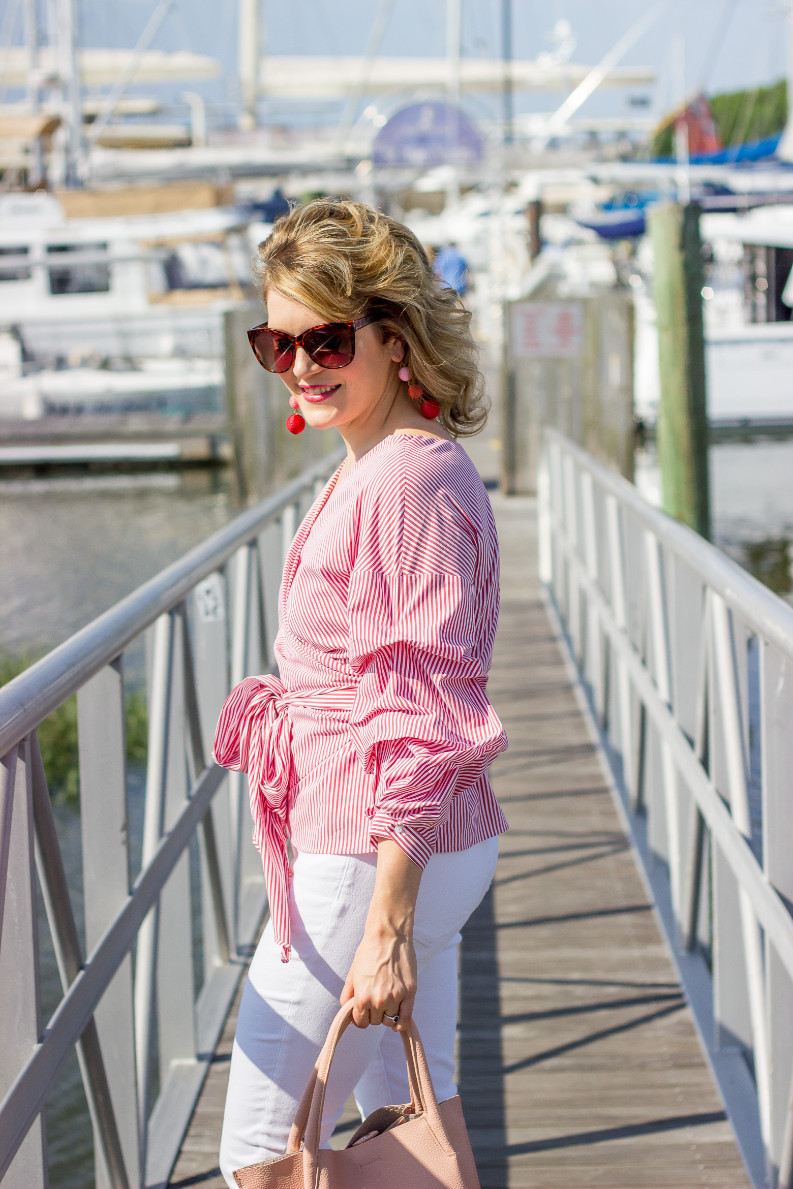 Ruffle wrap tops on Belle Meets World blog