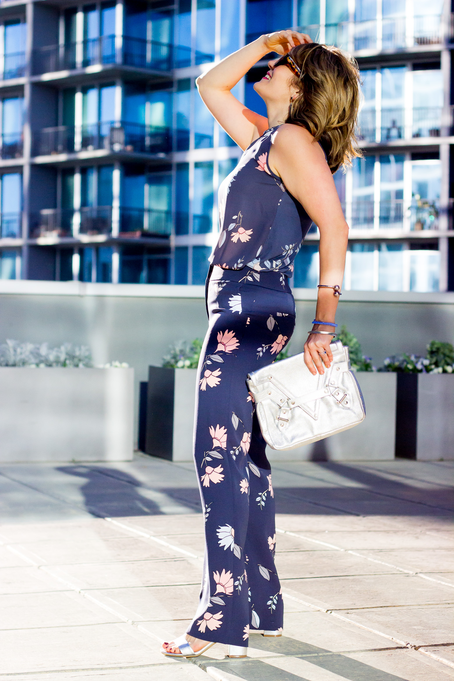 Floral pants for curvy bodies