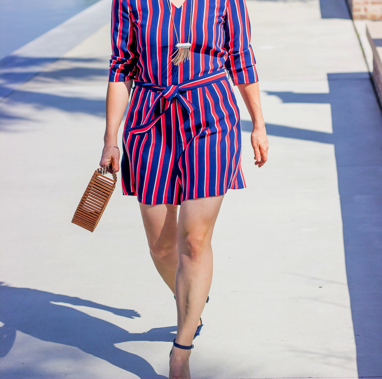 Banana Republic Striped Romper