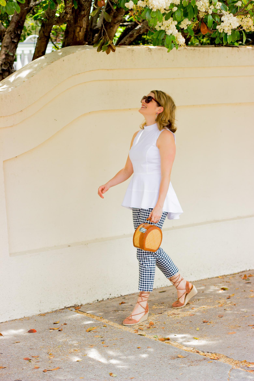 Basket bag and espadrilles