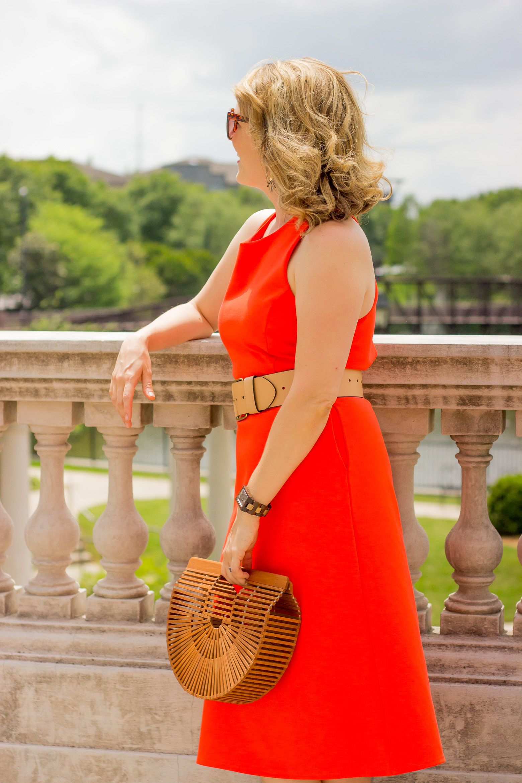Midi dress on Belle Meets World blog