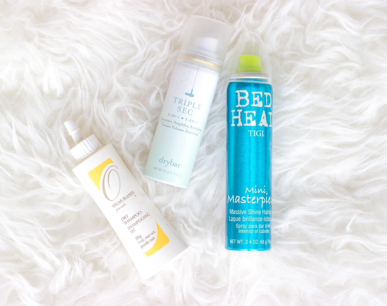 Dry shampoos on Belle Meets World blog