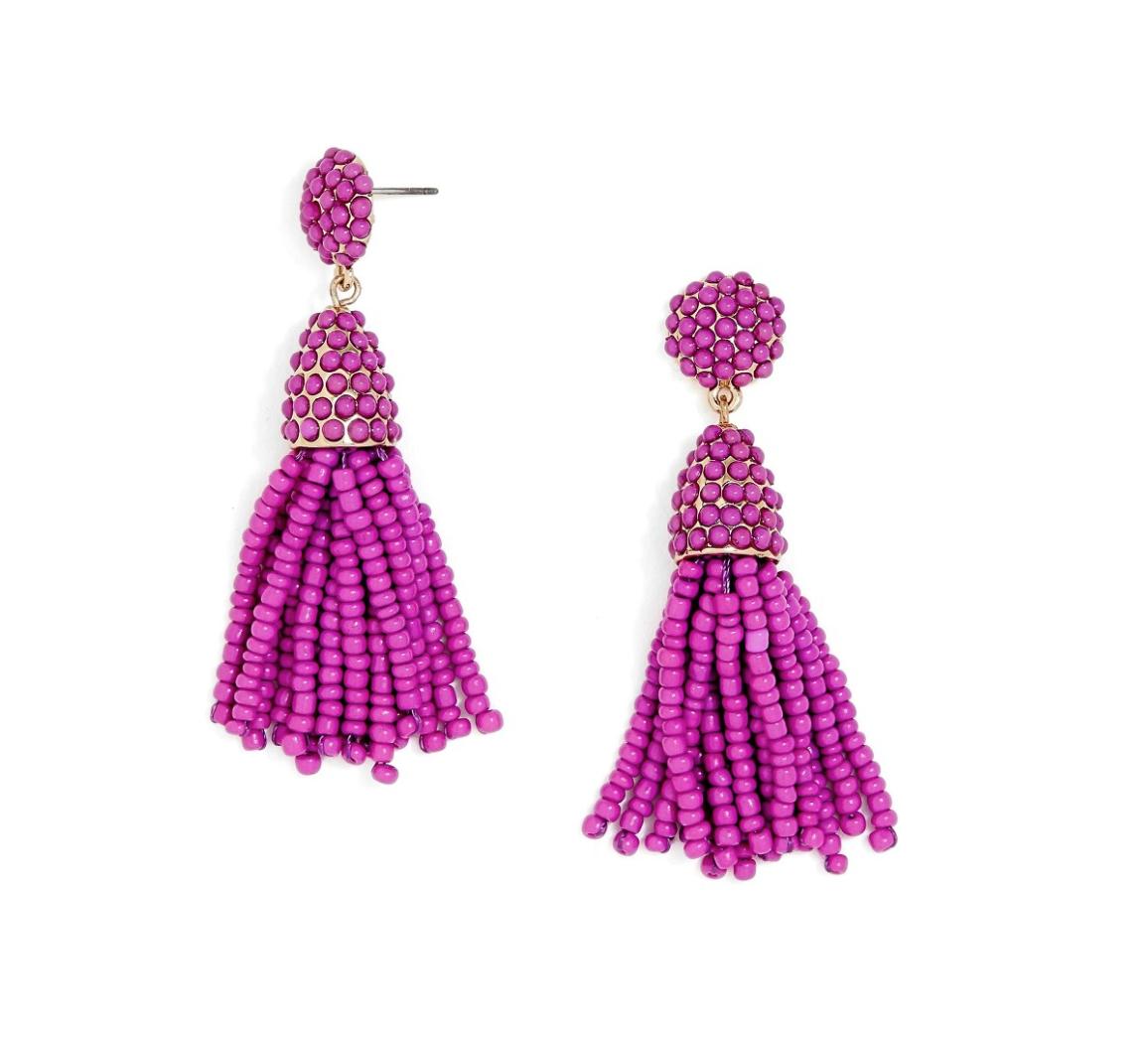 Baublebar Tassel earrings on Belle Meets World blog