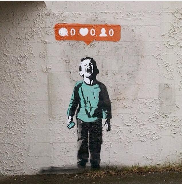 Photo of I<3's street art.