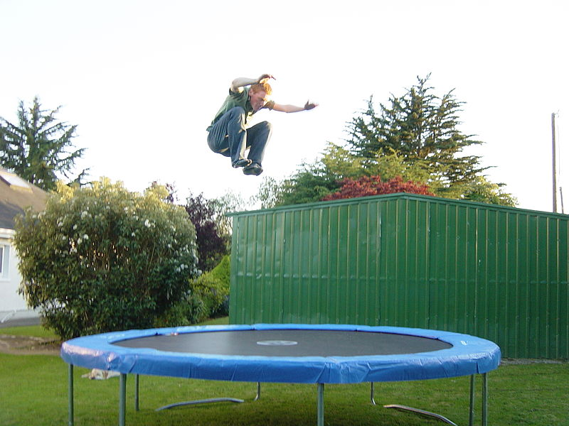 Imagine your muscle as being this trampoline. This dude about to jump on it is akin to your bouncing. Image source