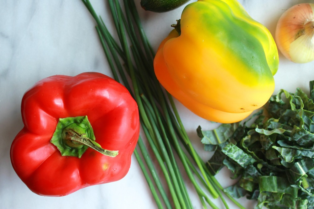 Love that green hue on that yellow pepper!