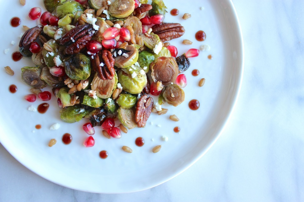Roasted Brussel Sprouts w:Pomegranate, Feta, and Farro | Living Minnaly14.jpg