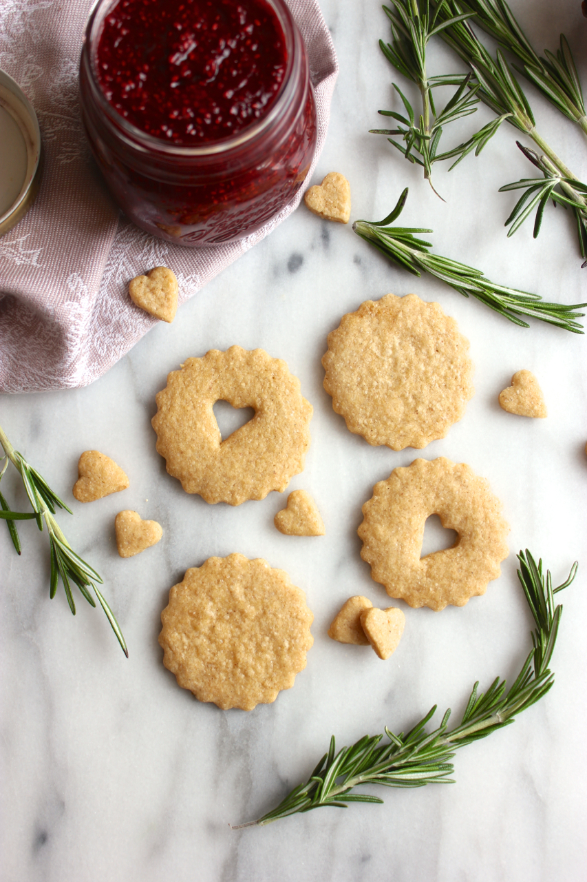 Gluten-Free Cranberry Chia Jam Shortbread Cookie Sandwiches | Living Minnaly05.jpg