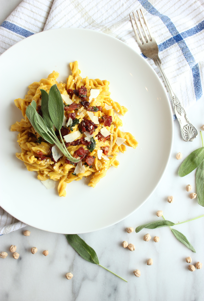 Butternut Squash Carbonara w/Sage-Maple Bacon 6 | Living Minnaly