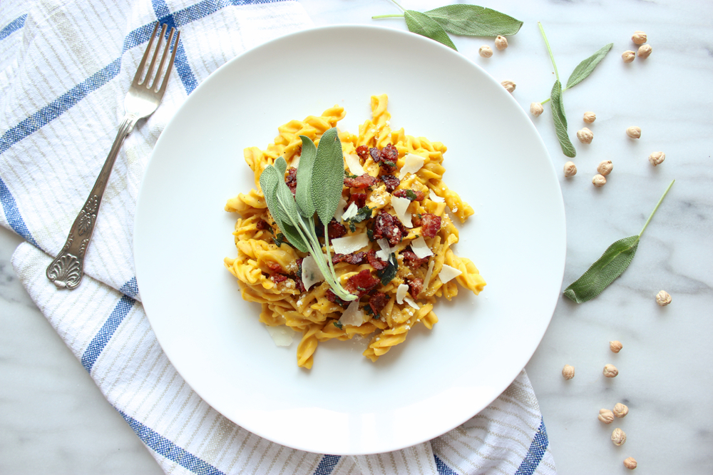 Butternut Squash Carbonara w/Sage-Maple Bacon 8| Living Minnaly