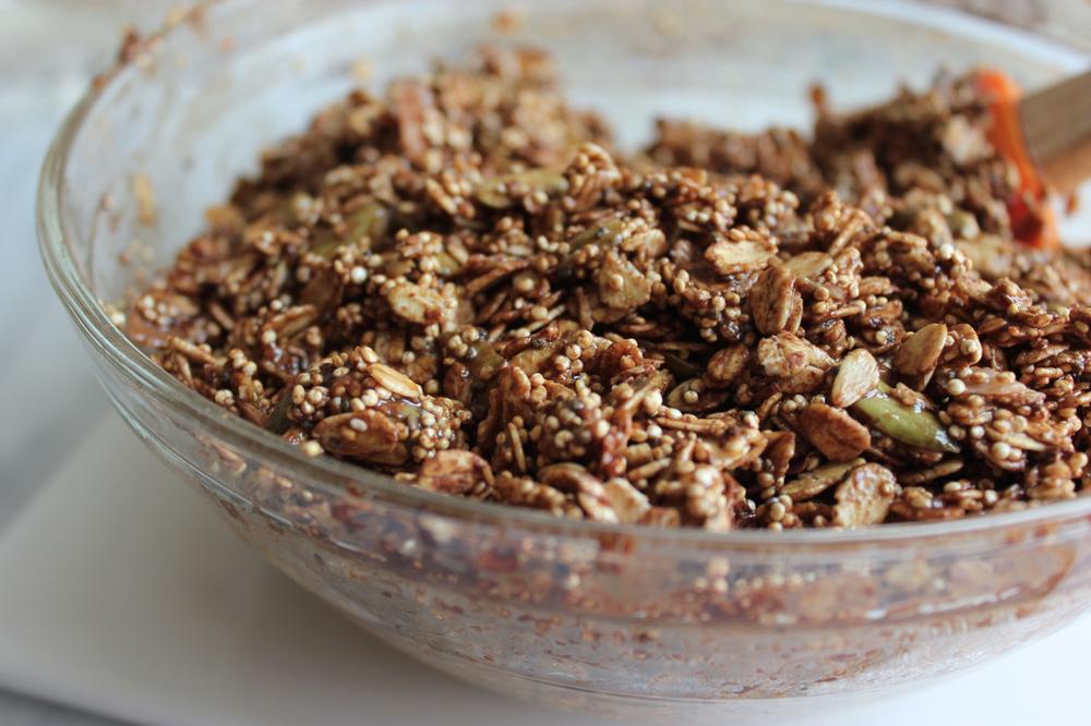 Chocolate Coconut Quinoa Granola | Living Minnaly05.jpg