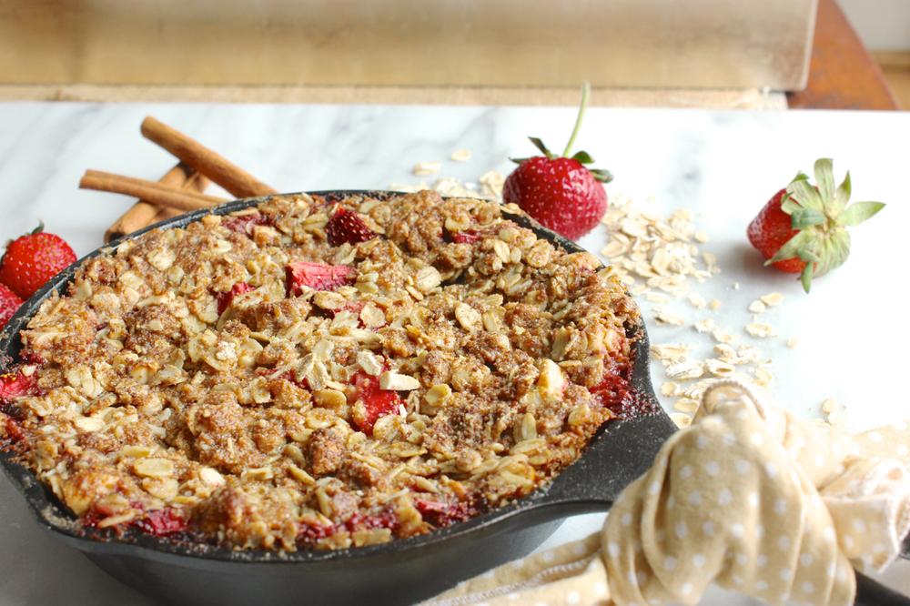 Strawberry-Rhubarb Skillet Crisp | Living Minnaly08.jpg