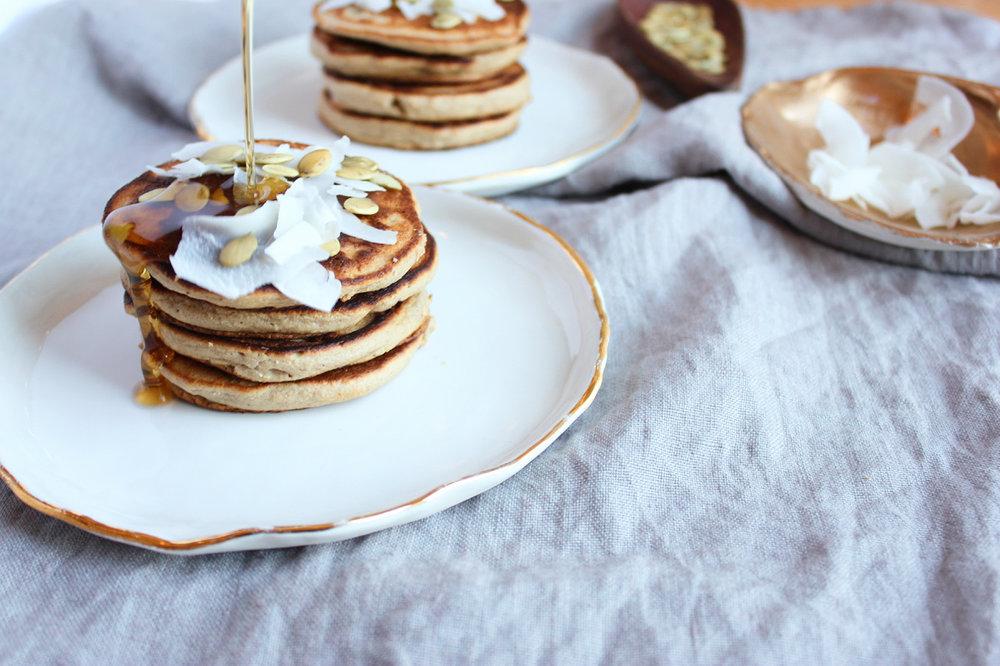 Gingerbread Pancakes, Gluten-Free + Vegan | Living Minnaly7.jpg