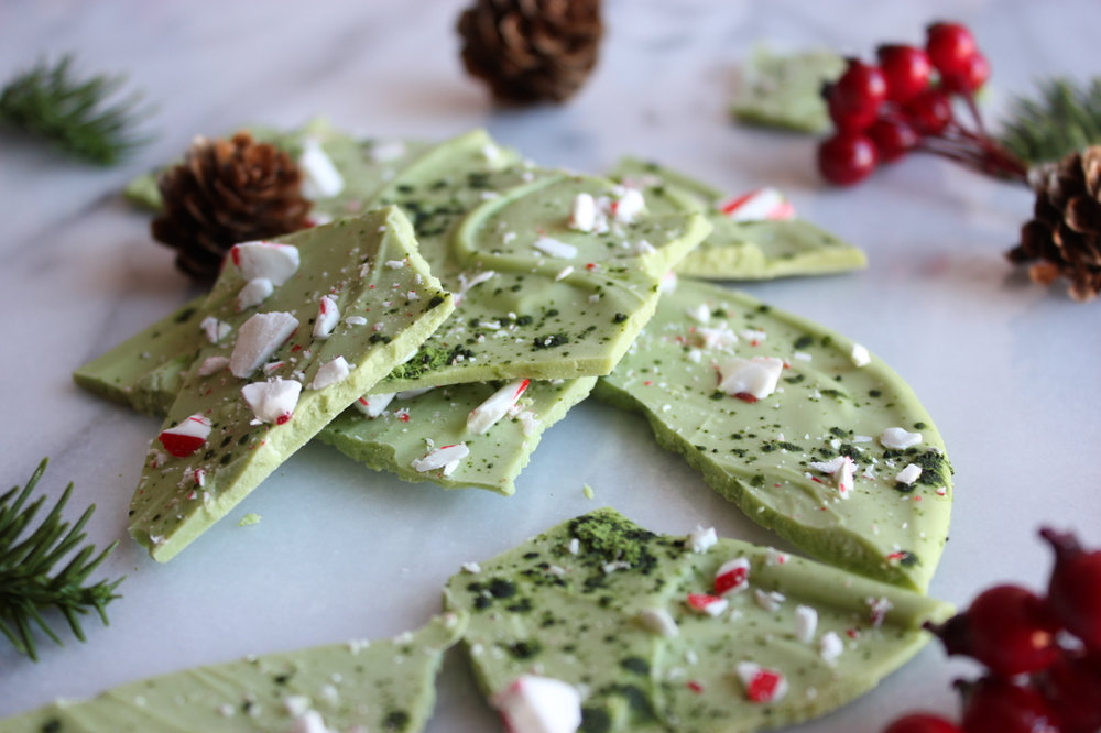 Matcha Peppermint Bark Recipe