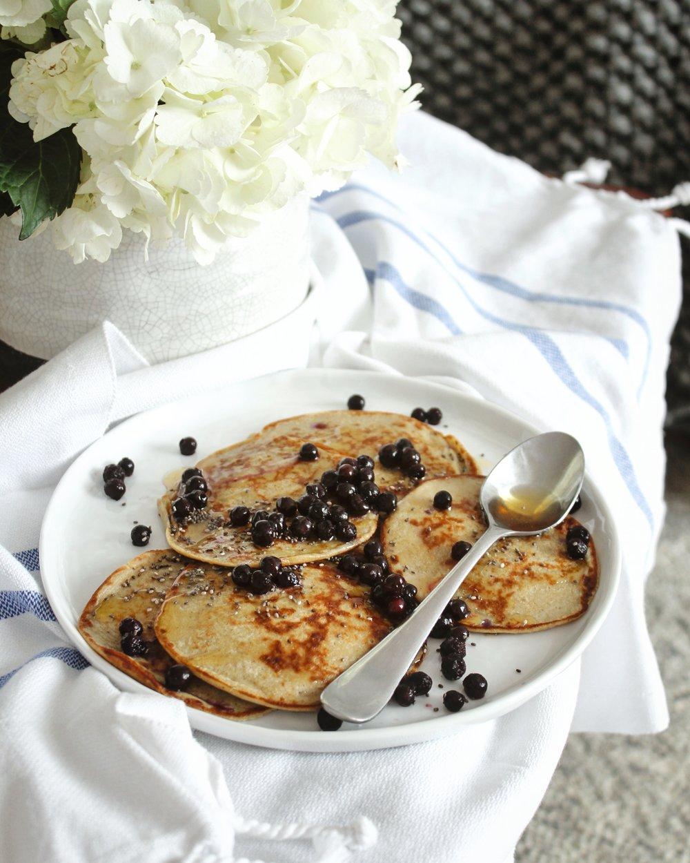 2 ingredient pancakes | Living Minnaly