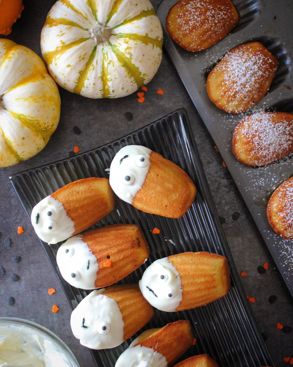 Pumpkin Madeleines dipped in White Chocolate.jpg
