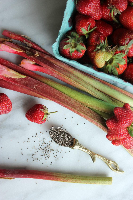 Strawberry Rhubarb Chia Jam
