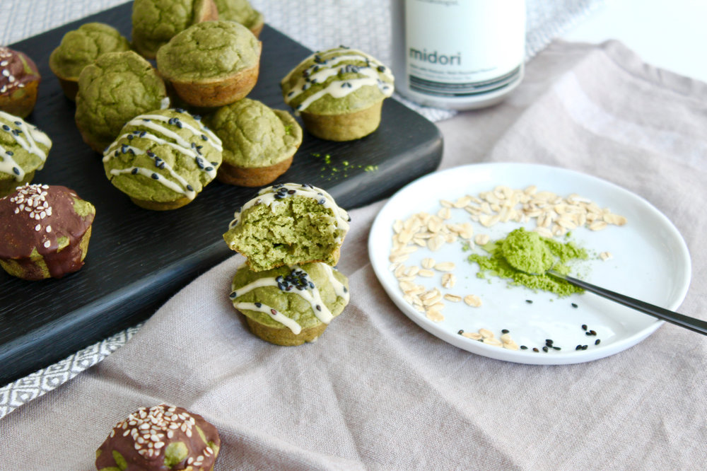 Matcha Mini Muffins with Collagen, Gluten-free Dairy Free | Living Minnaly  - 13.jpg