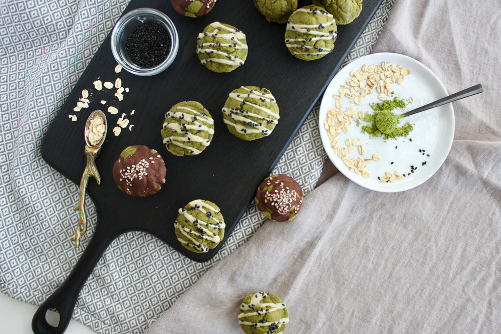 Matcha Mini Muffins with Collagen, Gluten-free Dairy Free | Living Minnaly  - 5.jpg