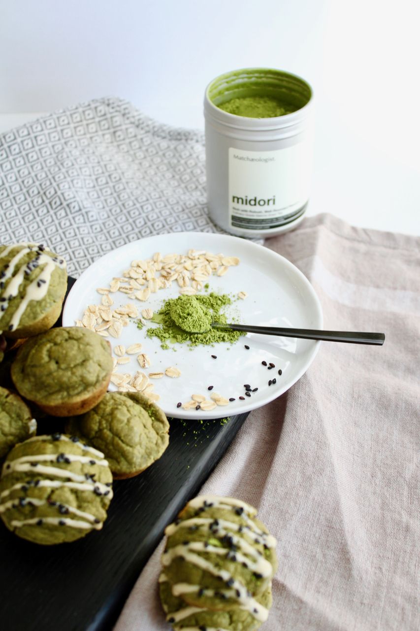 Matcha Mini Muffins with Collagen, Gluten-free Dairy Free | Living Minnaly  - 4.jpg