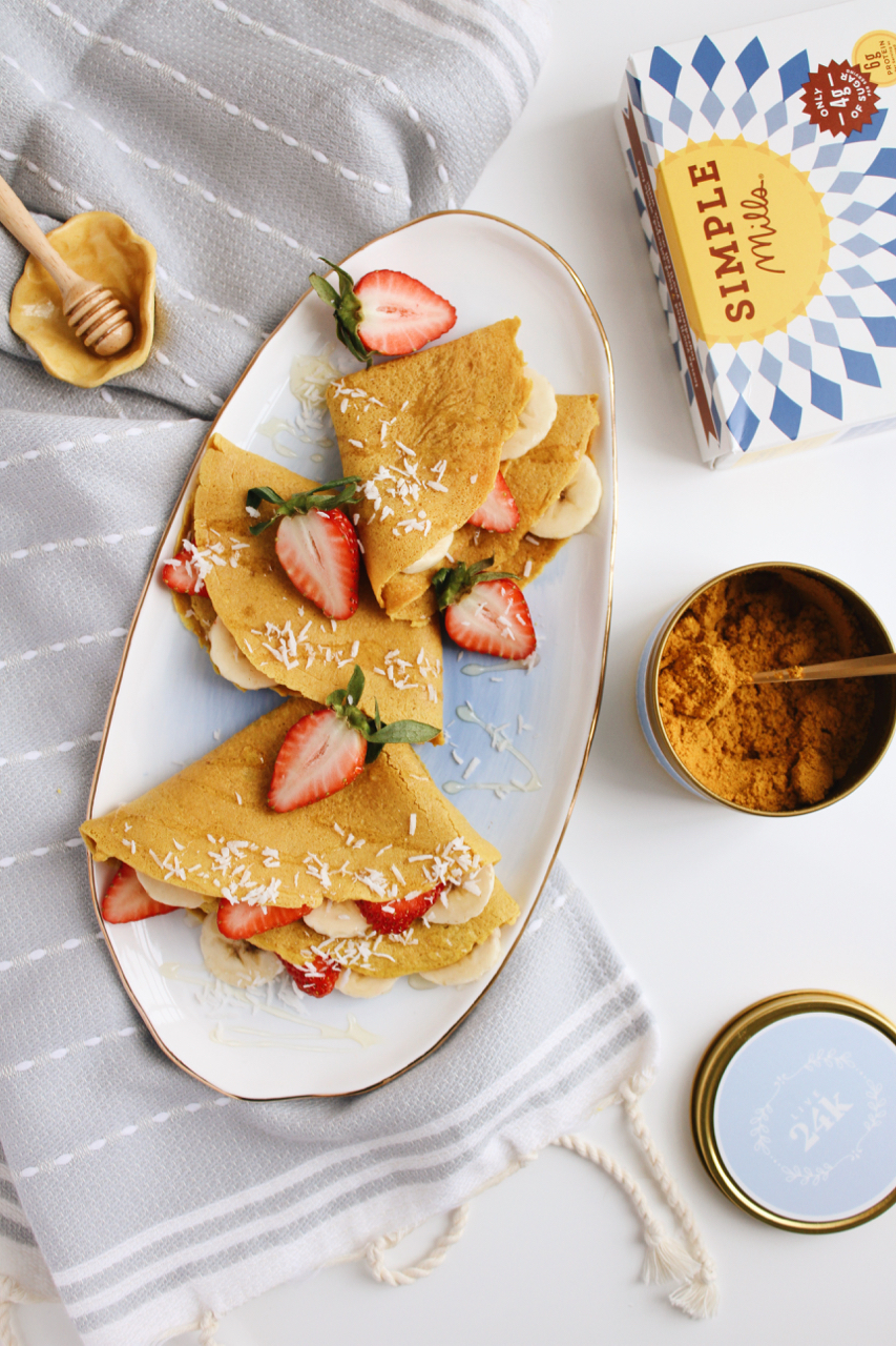 Golden Fuel Turmeric Collagen Crepes with Simple Mills + Live 24k | Living Minnaly  - 6.jpg