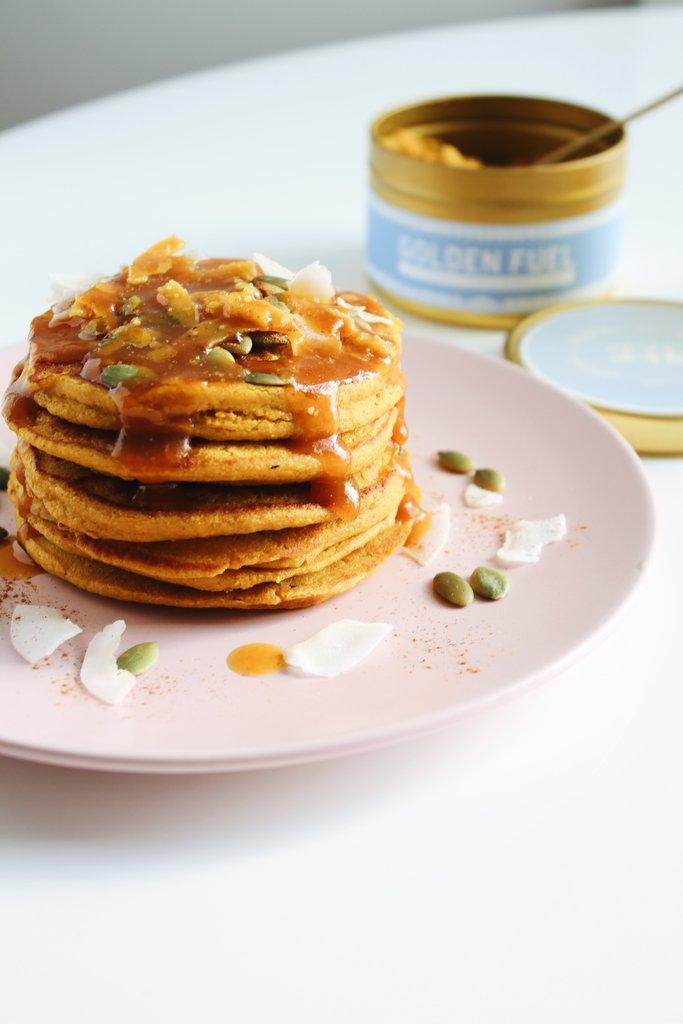 Also try: - Golden Pumpkin Pancakes