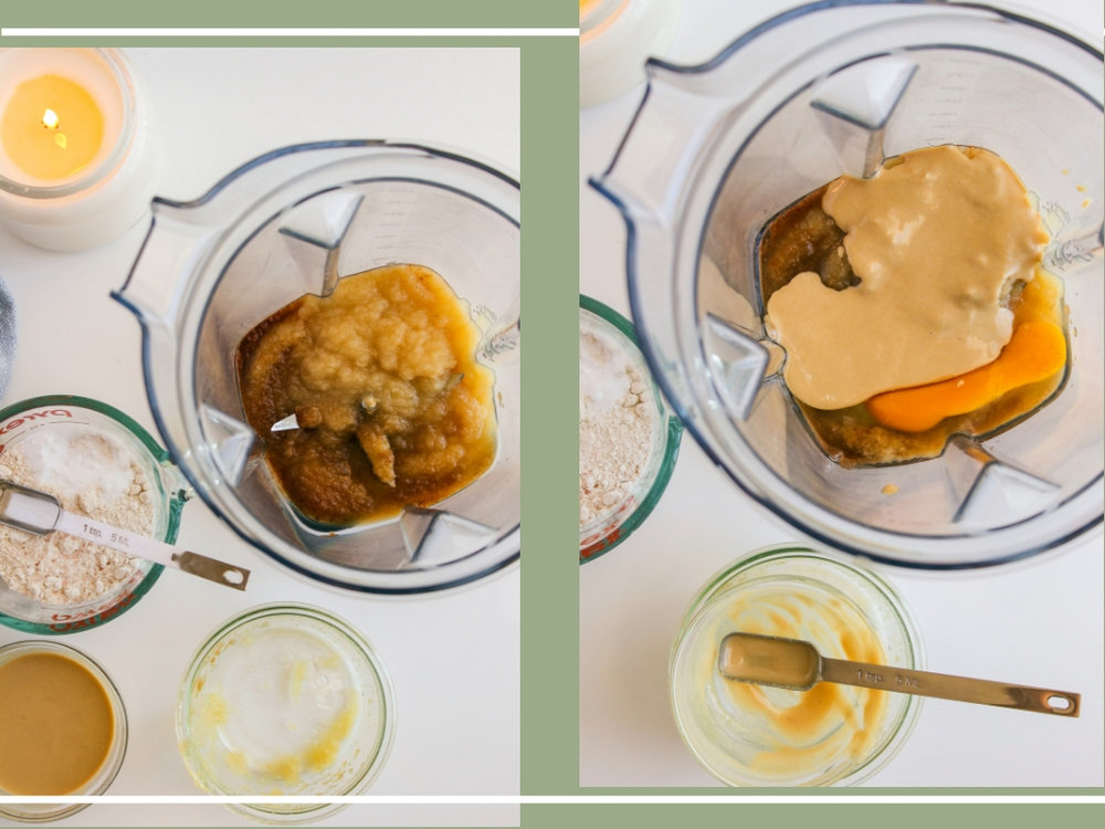 Apple Cinnamon Tahini Oat Pancakes   Living Minnaly __21.jpg