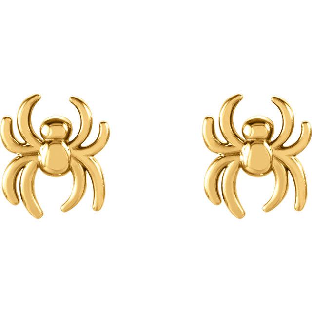 spider earstuds