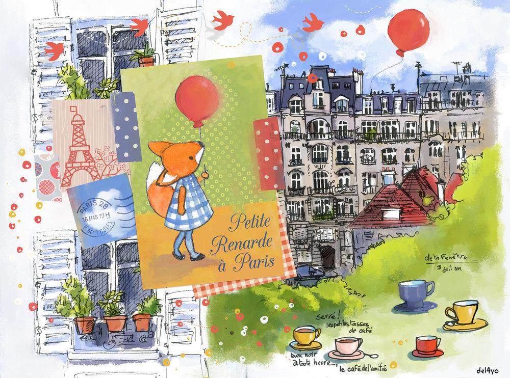 Illustration  Paris (Society6)