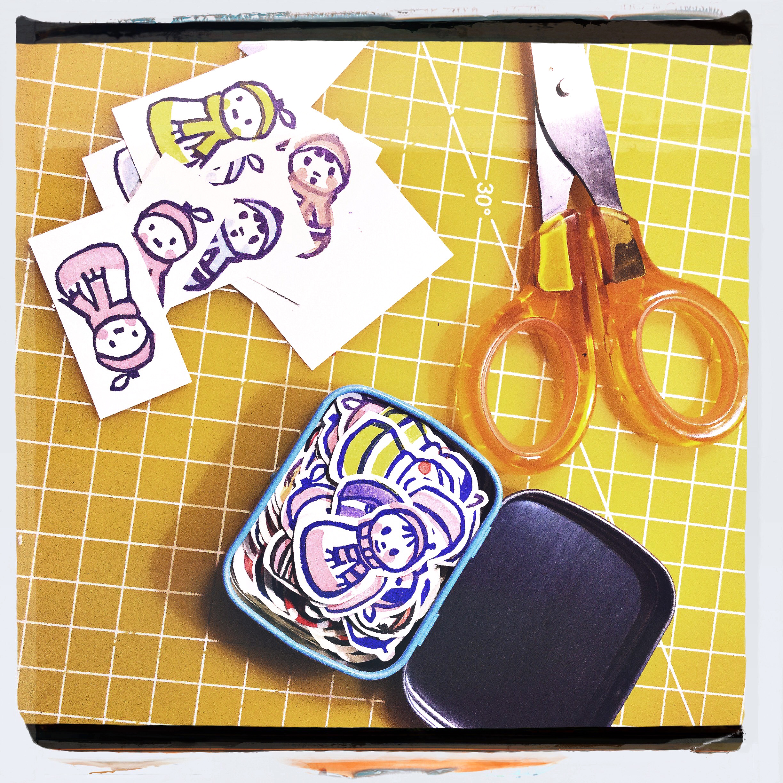 Top Make your own stickers! (plus printable) — Le Lapin dans la Lune ET39