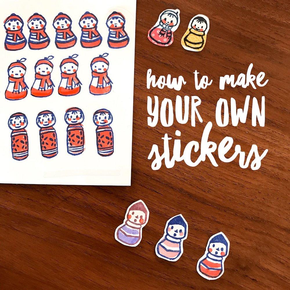 Make Your Own Stickers Plus Printable Le Lapin Dans La Lune