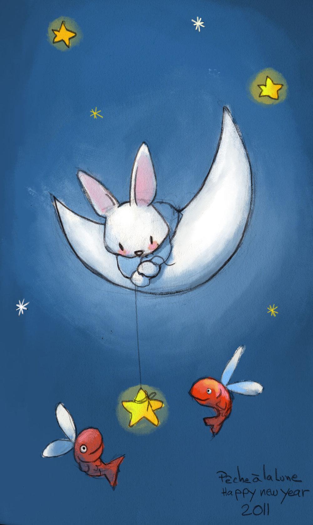 Le lapin dans la Lune