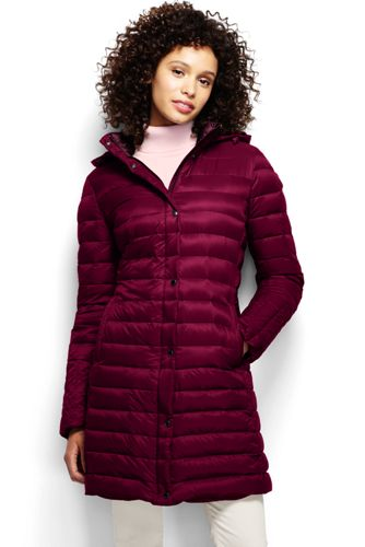 Land's End Women's Petite Lightweight Down Packable Coat
