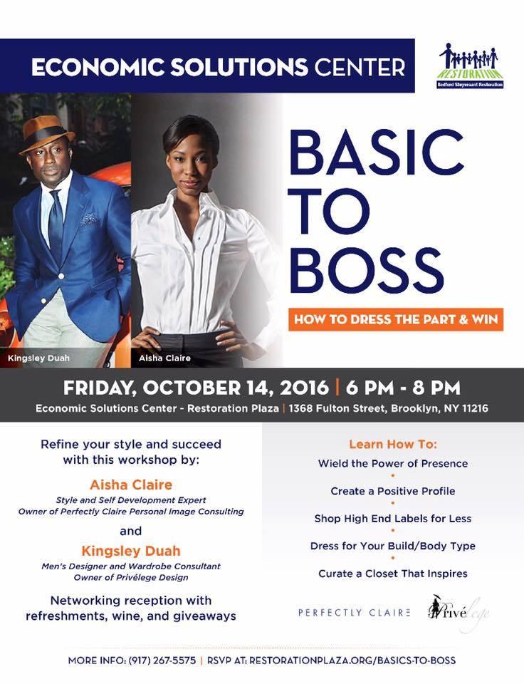 Basic to Boss Style Seminar.