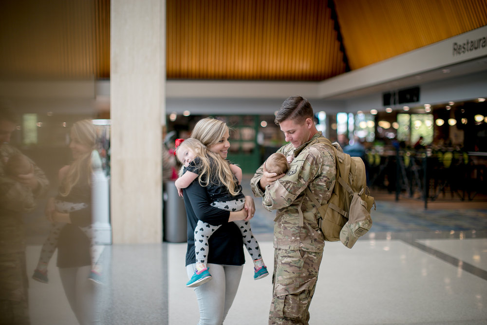 Military Homecoming - All copyrights to high resolution imagesLocation- Military Base or AirportReceive around 20-50+ photos.Investment- $150*all shoots require a $50 deposit payment upon booking