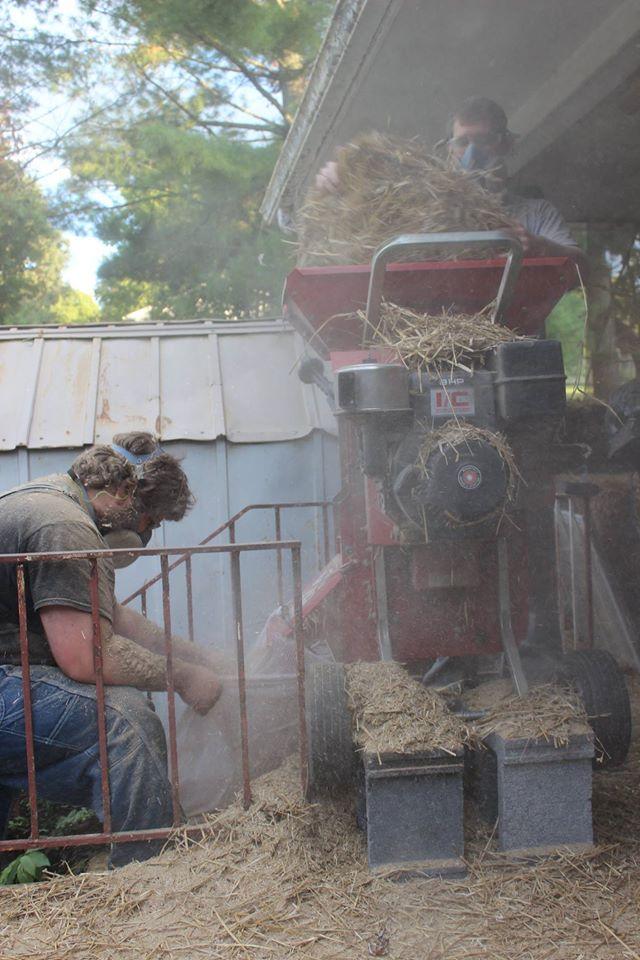 Processing straw