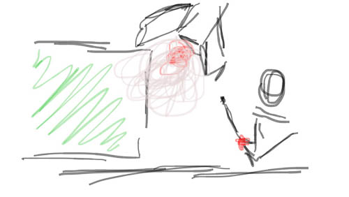 Sketch of my Rocket Boy Whiz Kid concept