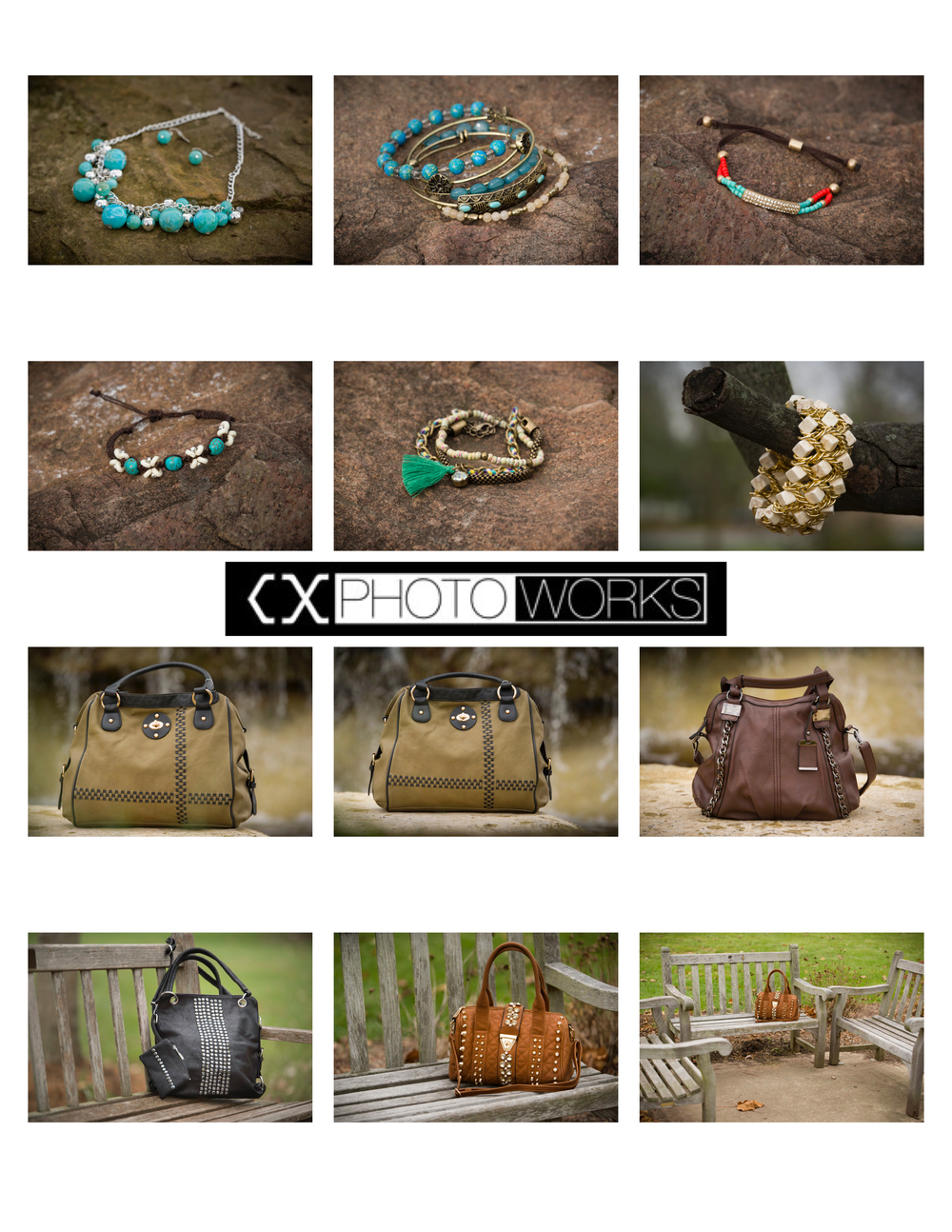Fashion Accessories:  Jewelry & Handbags (Contact Sheet 1)