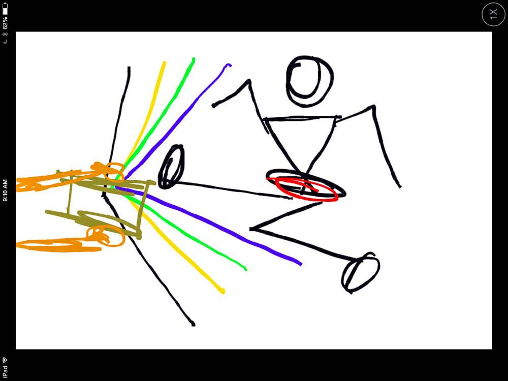 Taekwondo boy concept sketch