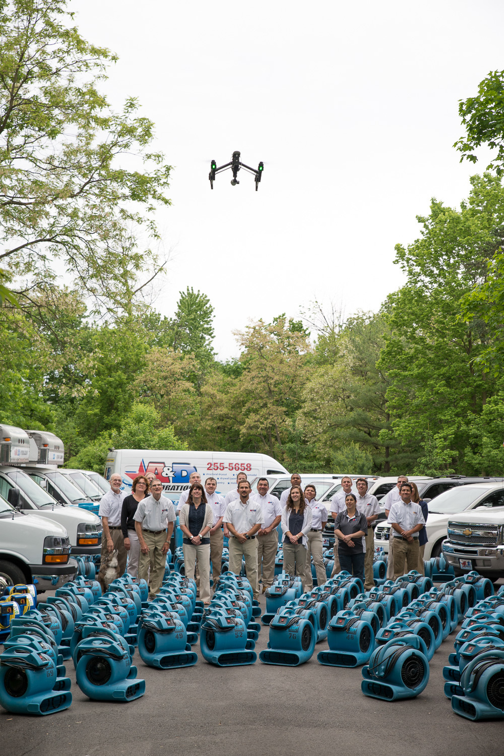 Commercial Photography Behind The Scenes at A&D in Indianapolis - Drone Fly-Over